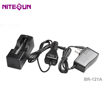 BR121A Single-slot 18650 Battery Charger with Car Charger