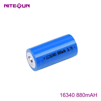 NITESUN 16340 880mah Rechargeable Li-ion Battery
