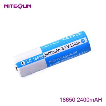 NITESUN 18650 2400mah Rechargeable Li-ion Battery