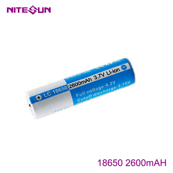 NITESUN 18650 2600mah Rechargeable Li-ion Battery