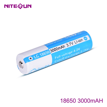 NITESUN 18650 3000mah Rechargeable Li-ion Battery