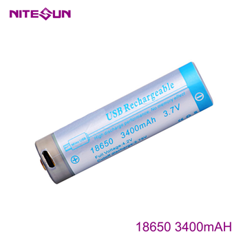 NITESUN 18650 3400mah Rechargeable Li-ion Battery